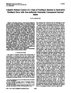 Adaptive robust control of a class of nonlinear ... - Purdue Engineering