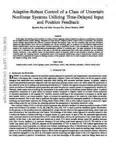 Adaptive-Robust Control of a Class of Uncertain Nonlinear Systems ...