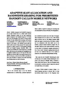 adaptive slot allocation and bandwidth sharing for prioritized