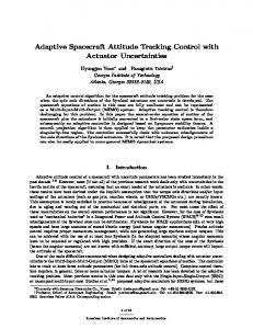 Adaptive Spacecraft Attitude Tracking Control with ... - CiteSeerX