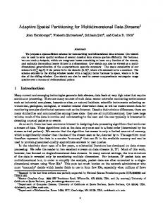 Adaptive Spatial Partitioning for Multidimensional ... - Semantic Scholar
