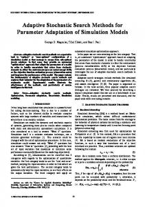 Adaptive Stochastic Search Methods for Parameter ... - Semantic Scholar