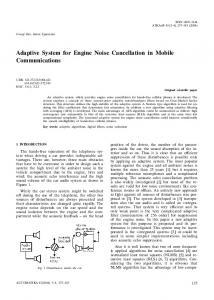 Adaptive System for Engine Noise Cancellation in Mobile ...
