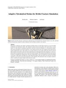 Adaptive Tetrahedral Meshes for Brittle Fracture Simulation