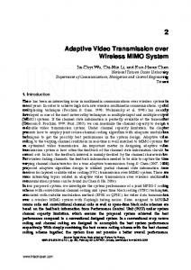 Adaptive Video Transmission over Wireless MIMO ...
