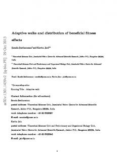 Adaptive walks and distribution of beneficial fitness effects