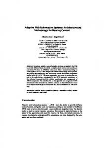 Adaptive Web Information Systems: Architecture and ... - CiteSeerX