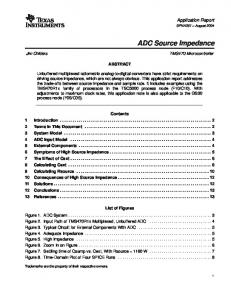ADC Source Impedance - Texas Instruments
