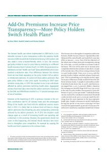 Add-On Premiums Increase Price Transparency