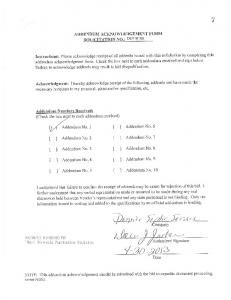 ADDENDUM ACKNOWLEDGEMENT FORM SOLICITATION NO ...