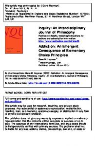 Addiction: An Emergent Consequence of Elementary Choice Principles