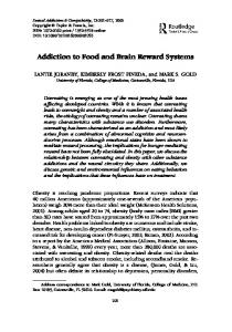 Addiction to Food and Brain Reward Systems