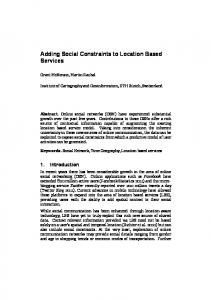 Adding Social Constraints to Location Based Services - Grant McKenzie