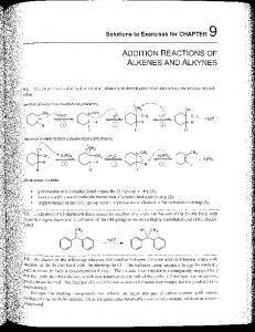 ADDITION REACTIONS OF ALKENES AND ALKYNES - Faculty ...
