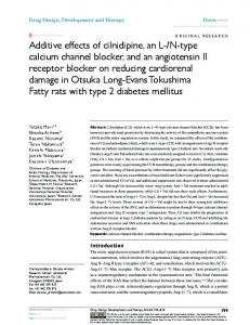 additive effects of cilnidipine, an l-/n-type calcium ...
