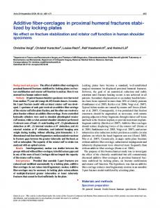 Additive fiber-cerclages in proximal humeral