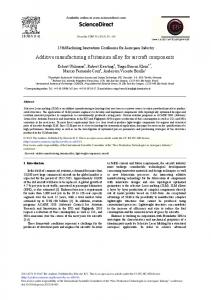 Additive Manufacturing of Titanium Alloy for ... - ScienceDirect.com
