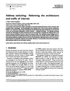 Address switching: Reforming the architecture and traffic of Internet