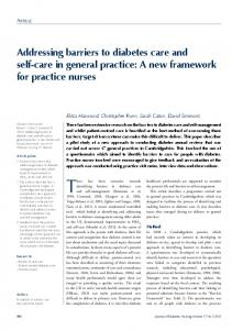Addressing barriers to diabetes care and self-care ... - Semantic Scholar