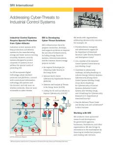 Addressing Cyber-Threats to Industrial Control Systems