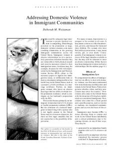 Addressing Domestic Violence in Immigrant Communities - Publications