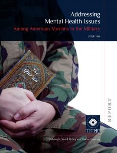 Addressing Mental Health Issues - Institute for Social Policy and ...