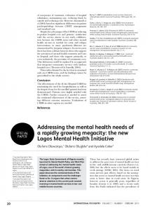 Addressing the mental health needs of a rapidly ...
