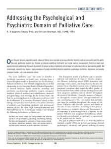 Addressing the Psychological and Psychiatric ... - Primary Psychiatry