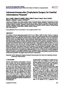 Adenocarcinomas after Prophylactic Surgery for