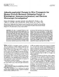 Adenohypophysial Changes in Mice Transgenic for ...