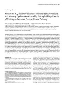 Adenosine A2A Receptor Blockade Prevents Synaptotoxicity and ...