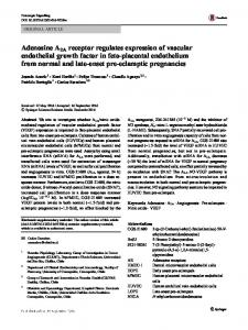 Adenosine A2A receptor regulates expression of ...