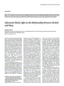 Adenosine Sheds Light on the Relationship between Alcohol and Sleep