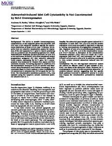 Adenoviral-Induced Islet Cell Cytotoxicity Is Not ... - Semantic Scholar