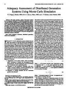 Adequacy assessment of distributed generation systems ... - IEEE Xplore