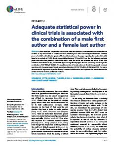 Adequate statistical power in clinical trials is
