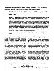 Adherence and Glycemic Control among Hispanic ... - Semantic Scholar