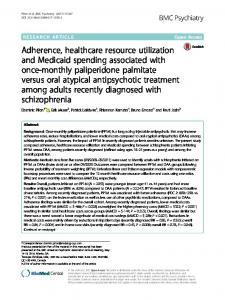 Adherence, healthcare resource utilization and ... - BMC Psychiatry