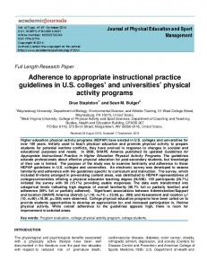 Adherence to appropriate instructional practice ... - Academic Journals