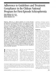 Adherence to Guidelines and Treatment ... - Psychiatric Services