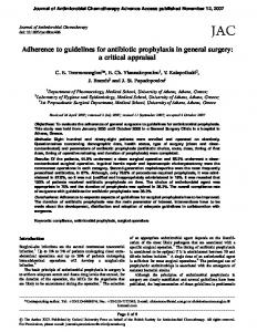 Adherence to guidelines for antibiotic prophylaxis in general surgery ...