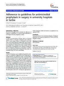 Adherence to guidelines for antimictrobial prophylaxis ... - Springer Link