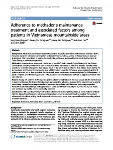 Adherence to methadone maintenance treatment ... - Semantic Scholar