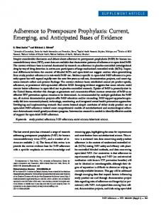 Adherence to Preexposure Prophylaxis - CiteSeerX