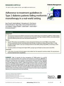 Adherence to treatment guidelines in Type 2 diabetes patients failing ...