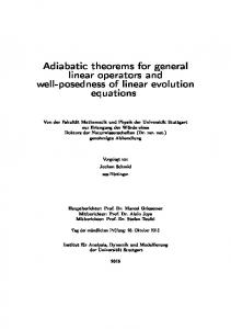 Adiabatic theorems for general linear operators and