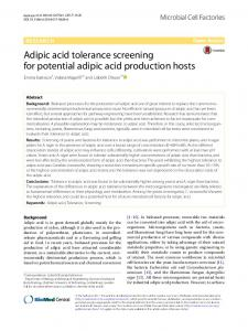Adipic acid tolerance screening for potential adipic ... - Semantic Scholar