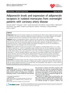 Adiponectin levels and expression of adiponectin ... - Springer Link