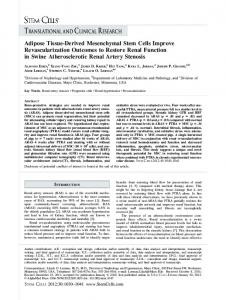 Adipose TissueDerived Mesenchymal Stem ... - Wiley Online Library