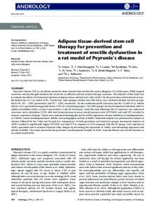 Adipose tissuederived stem cell therapy for ... - Wiley Online Library
